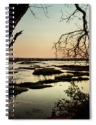 A River Sunset In Botswana Spiral Notebook