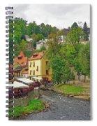 A Riverside Cafe Along The Vltava River In The Czech Republic Spiral Notebook