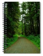 A Road Through The Forest Spiral Notebook