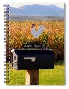 A Rooster Above A Mailbox 1 Spiral Notebook