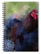 A Rooster And A Hen Spiral Notebook