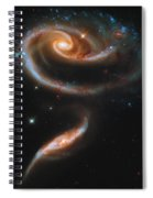 A Rose Made Of Galaxies Spiral Notebook