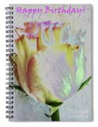 A Rosy Birthday Wish Spiral Notebook