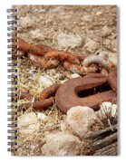 A Rusty Chain And Hook Spiral Notebook