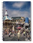 A Scene At The San Francisco Carousel Spiral Notebook