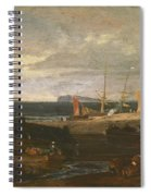 A Scene On The English Coast Spiral Notebook