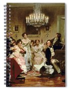 A Schubert Evening In A Vienna Salon Spiral Notebook