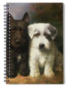 A Scottish And A Sealyham Terrier Spiral Notebook