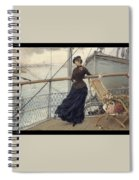 A Scottish Lady On A Boat Arriving In New York Henry Bacon Spiral Notebook