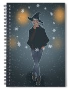 A Sea Witch's Blessed Yule Spiral Notebook