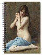 A Seated Nude With A Blue Drape Spiral Notebook