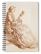 A Seated Woman Spiral Notebook