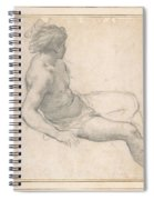 a Seated Youth for the Age of Gold , Pietro da Cortona Spiral Notebook