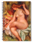 A Seating Bather 1906 Spiral Notebook