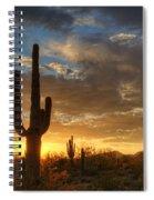A Serene Sunset In The Sonoran Desert  Spiral Notebook