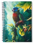 A Shady Spot - St. Lucia Parrot Spiral Notebook