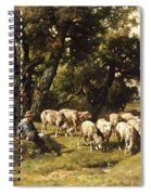 A Shepherd And His Flock Spiral Notebook
