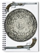 A Shield In Iron And Guns Spiral Notebook