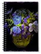 A Shot Of Springtime Wildflowers Spiral Notebook