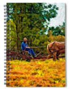 A Simpler Time Impasto Spiral Notebook