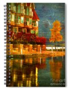 A Single Yellow Tree Spiral Notebook