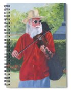 A Slim Fiddler For Peace Spiral Notebook