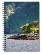 A Small Rocky Island At Doubtful Sound Spiral Notebook