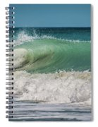 A Small Tube Wave In Atlantic Ocean Spiral Notebook