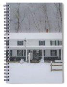 A Snowstorm At Valley Green Inn Spiral Notebook