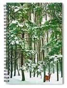 A Snowy Day - Paint Spiral Notebook