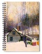 A Snowy Monday Spiral Notebook