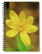 A Soft Yellow Flower  Spiral Notebook