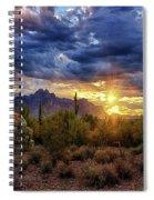 A Sonoran Desert Sunrise - Square Spiral Notebook