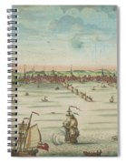 A South East View Of The Great Town Of Boston In New England In America, 1730 Spiral Notebook