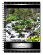 A Splendid Day On Logging Creek Spiral Notebook