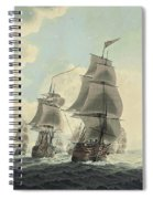 A Squadron Of The Royal Navy Running Down The Channel And An East Indiaman Preparing To Sail Spiral Notebook