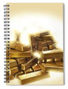 A Stack Of Gold Bullion  Spiral Notebook