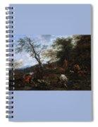 A Stag Hunt Nicolaes Claes Pietersz Berchem Spiral Notebook
