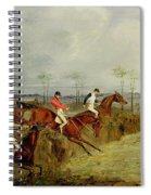 A Steeplechase - Taking A Hedge And Ditch  Spiral Notebook