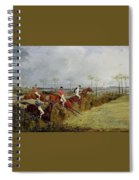 A Steeplechase - Taking A Hedge And Ditch Henry Thomas Alken Spiral Notebook