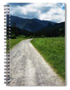 A Stone Path Through The Countryside Into The Forest Spiral Notebook