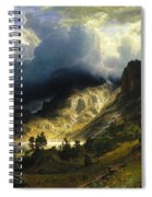 A Storm In The Rocky Mountains Mt. Rosalie, 1866 Spiral Notebook