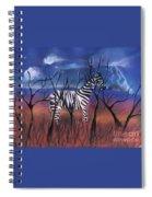 A Stormy Night For A Zebra  Spiral Notebook