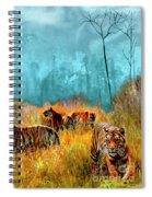 A Streak Of Tigers Spiral Notebook