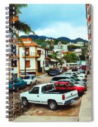 A Street In Puerto Vallarta Spiral Notebook