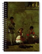 A Street Scene In Sevilla 1870 Spiral Notebook