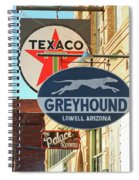 A Street Scene Of Vintage Signs, Lowell, Arizona Spiral Notebook