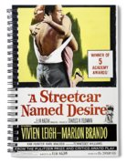 A Streetcar Named Desire Portrait Poster Spiral Notebook