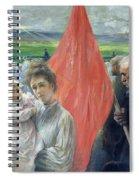 A Strike At Saint Ouen Spiral Notebook