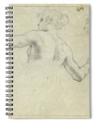 A Study For A Female Allegorical Figure And A Separate Study For Her Head Spiral Notebook